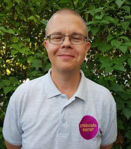 Strängnäspartiets gruppledare Niclas Samuelson.